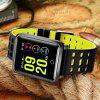 Diggro N88 Smart Watch Bluetooth IP68 Waterproof Heart Rate Monitor - YELLOW