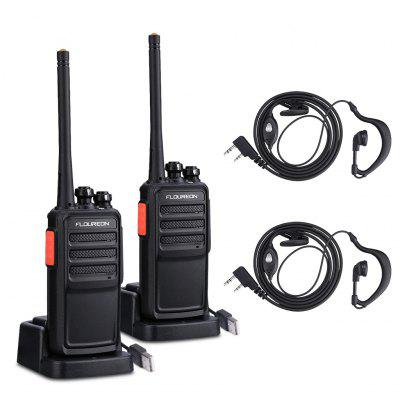 Floureon A5 Rechargeable 16 Channel Walkie Talkie PMR 446MHz Two Way Radio Handheld Transceiver