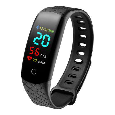 Smart Bracelet Heart Rate Waterproof Watch Step Sleep Monitoring SMS Display