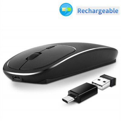 2.4G Rechargeable Wireless Mouse Portable Slient Mice for PC Computer Notebook Laptop MacBook
