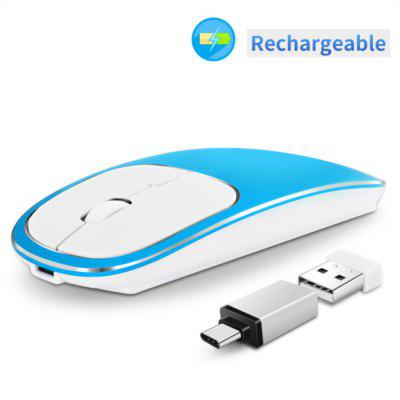 2. 4G Rechargeable Wireless Mouse Portable Slient Mice for PC Computer Notebook Laptop MacBook
