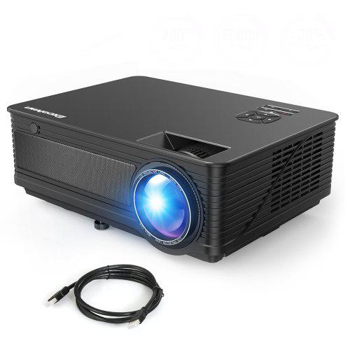 Excelvan M5 3500 Lumens Full HD Projector – Black EU Plug 263611004, 1280 x 768 1080P Full HD Support 200 inch Projection Size HDMI Interface | Warehouse: CN-099