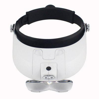 Detachable LED Headband Illuminated Magnifier with 5 Replaceable Lens 81001-G