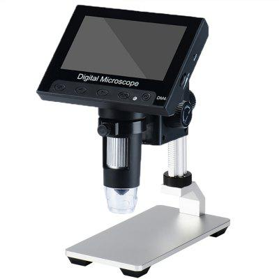 4.3'' HD 1000×Desktop 8 LED Electronic Digital Microscope with Standard Definition Aluminum Alloy Stand DM4