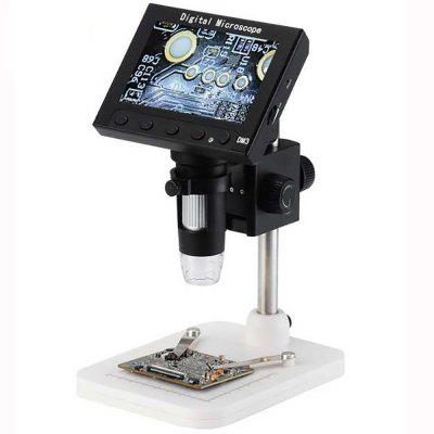 4.3'' HD 1000× Desktop 8 LED Electronic Digital Microscope with HD Plastic Stand DM3