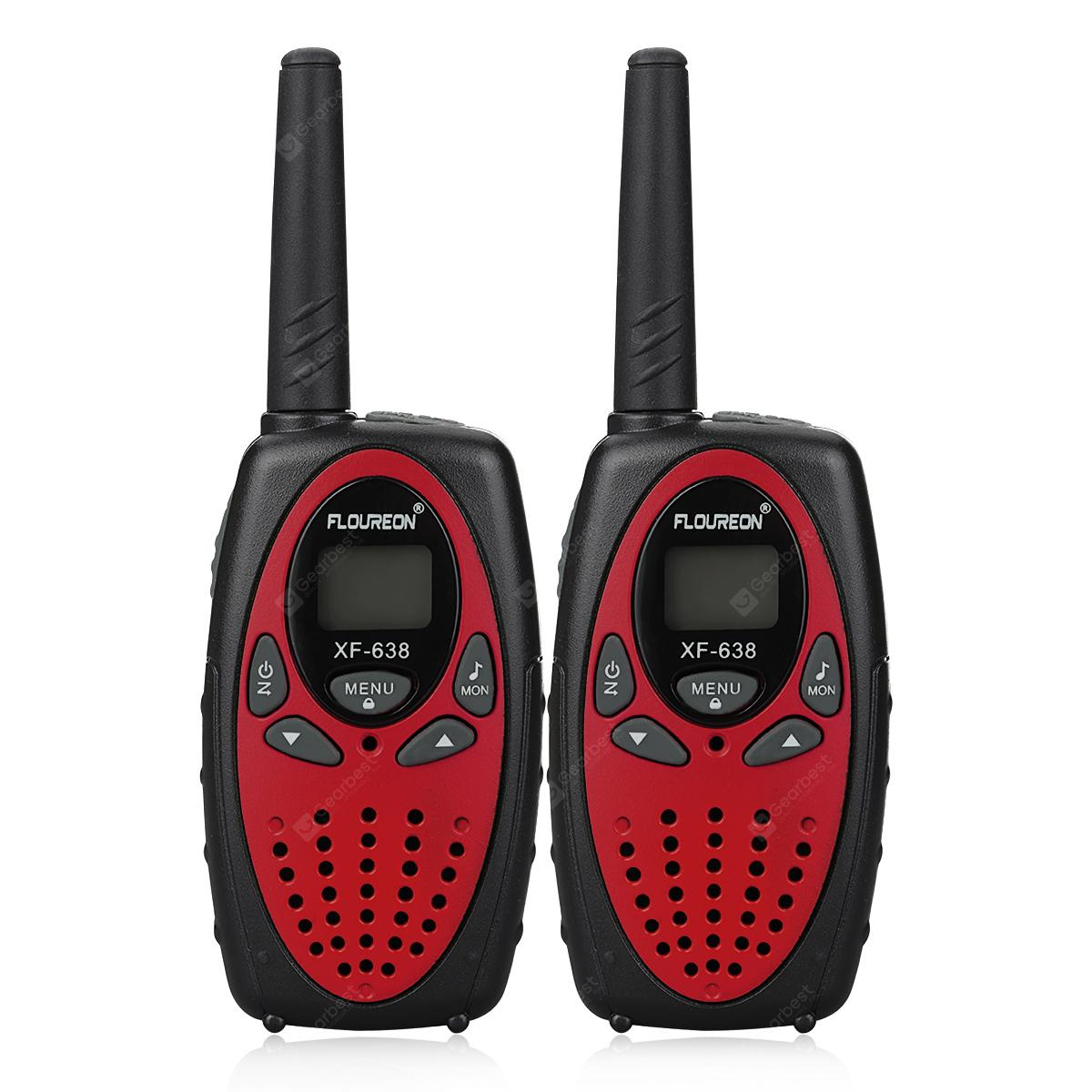 FLOUREON XF - 638 8 Channel Twin PMR446MHZ 2 - way Radio 3KM Range Interphone Walkie Talkies