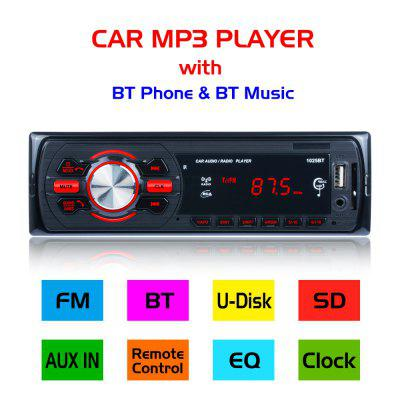 Bluetooth Car MP3 Player Stereo Audio Radio FM/SD USB AUX Input Remote Control 1025BT