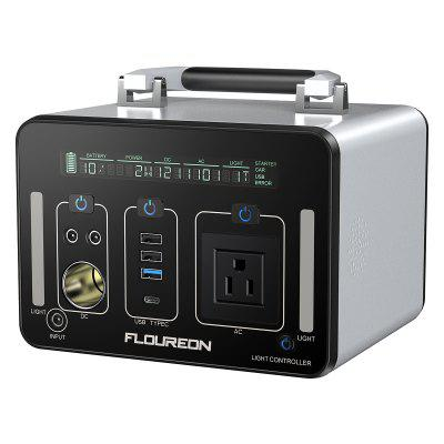Floureon 500Wh Power Generator Portable Li On Charger with AC DC USB Input PD Quick Charge for Home And Outdoors Laptops Tablets Cell Phones Lighting Equipment