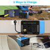 Floureon 500Wh Power Generator Portable Li On Charger with AC DC USB Input PD Quick Charge for Home And Outdoors Laptops Tablets Cell Phones Lighting Equipment - COBALT BLUE