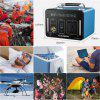 Floureon 500Wh Power Generator Portable Li On Charger with AC DC USB Input PD Quick Charge for Home And Outdoors Laptops Tablets Cell Phones Lighting Equipment - BLUEBERRY BLUE