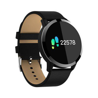 Q8 Smart Watch 1.2 inch OLED Color Screen Heart Rate Monitor leather belt