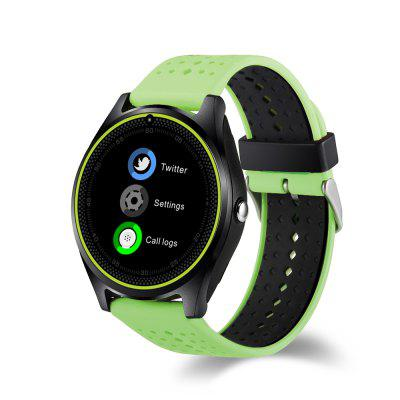 V9 Smart Watch Heart Rate Monitor with Camera Bluetooth Calling Support Sim Card