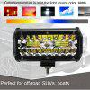 7 Inch 200W Car LED Work Light Bar Spot Flood Beams Combo For Offroad SUV Truck - BLACK