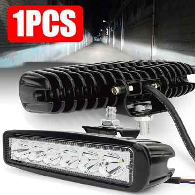 6LED 18W Work Light Bar DRL Driving Fog Spot Lamp Pre Offroad Auto Truck 6500