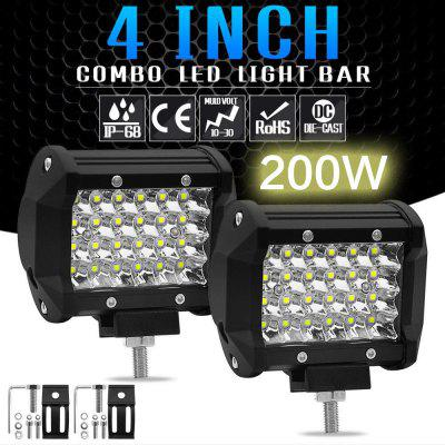 1PC 200W 4 LED Combo Work Light Bar Spotlight Off-road Driving Fog Lamp Truck