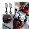 LED Turn Signal Mirrors Motorcycle Rearview Mirrors For Yamaha YZF R1 YZF-R6 - BLACK
