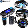 Car Auto Bluetooth FM Transmitter Hands free MP3 Player Radio Adapter Kit USB Charger - BLUE