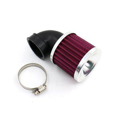 90° Round ATV Air Filter Mesh 45-48mm Inlet for Moped Scooter Universal