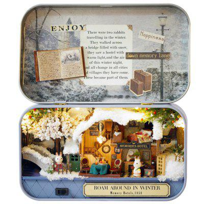 DIY Miniature House Kit Assembled Model Toy Box Theater Old Times Trilogy - Wander in Winter