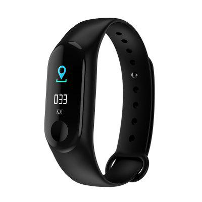 M3 Plus Smart Bracelet  Bluetooth 4.0 Heart Rate Watch Step Sleep Monitoring Watch