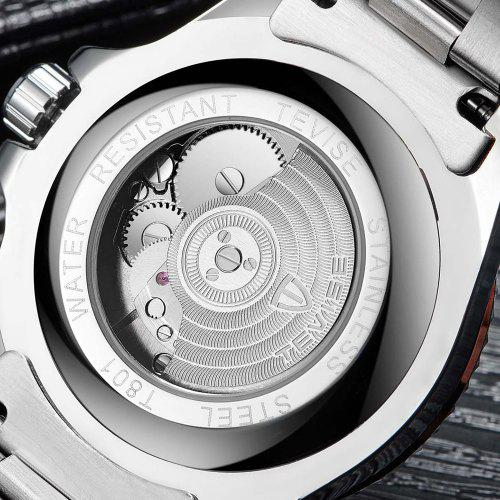 Hot TEVISE  T801A Stainless Steel Strap Men Mechanical Watch with Date Function