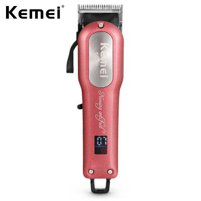 Kemei KM -1031 Steel Knife Adjustable Cordless Powerful Motor Hair Clipper With 4 Guide Comb