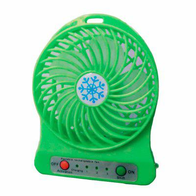 Creative USB Small Fan Desktop Mini Fan Portable Small Fan Rechargeable 1200mAh Configuration +18650 Battery