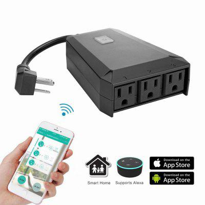 Waterproof Wireless Remote Control Socket Wi-Fi Extension Socket Voice Control