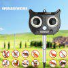 Outdoor Solar Powered Ultrasonic Animal and Bird Repeller Passive Infrared Sensor Waterproof Against Rat Cat Dog Fox - BLACK