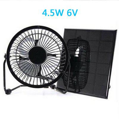 4.5W 6V Solar Panel Fan 6 inch Solar Fan Can Charge Mobile Phone Mobile Power Touring Camping Pet Ventilator
