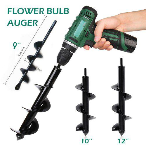 Garden Fence Post Hole Drill Ground Earth Auger Digger Heavy Duty Manual Tool