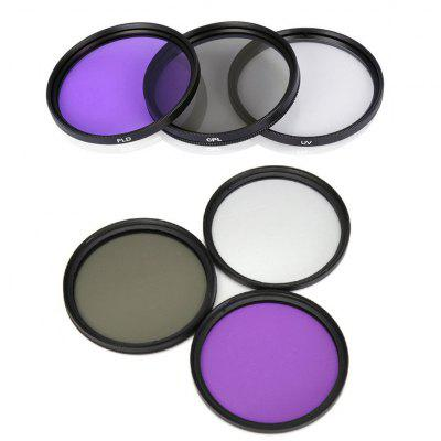 Lightdow 49MM UV+CPL+FLD 3 in 1 Lens Filter Set with Bag for Cannon Nikon Sony Pentax Camera Lens