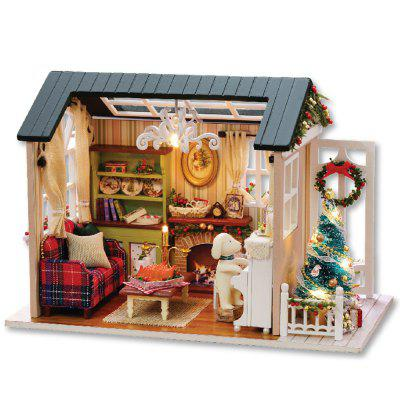 DIY Wooden House Furniture Handcraft Miniature Box Kit - Holiday Time