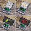 Portable Pocket Electronic Scales Jewellery Gold Medicine Weighing USB Charging LED Kitchen Scale - SILVER
