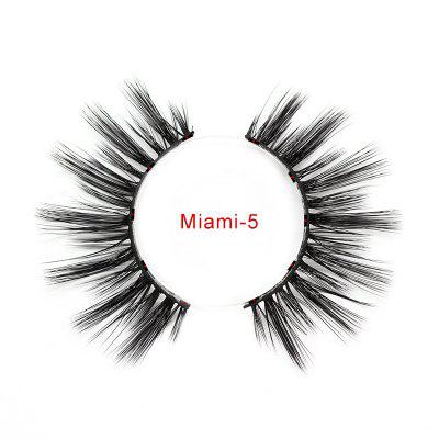 Five magnetic magnetic false eyelashes