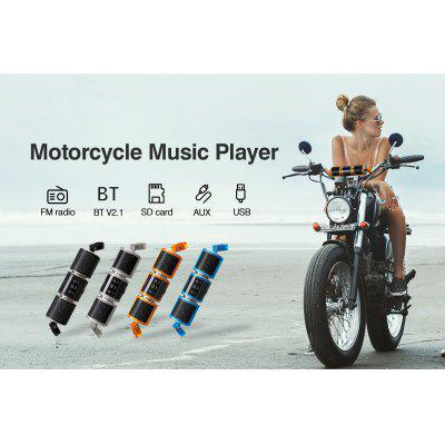 Motorcycle Motorbike Bluetooth MP3 Water-resistant LED Display TF card Stereo MP3 Music Player (Yellow)