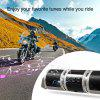 Motorcycle Motorbike Bluetooth MP3 Water-resistant LED Display TF card Stereo MP3 Music Player Silver - SILVER