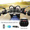 Excelvan Motorcycle Motorbike Bluetooth MP3 Water-resistant LED Display TF card Stereo MP3 Music Player (Black) - BLACK