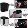Hang Waist Cooling Fan Outdoor Portable Mini Fan For Working at The Waist USB Charging With Battery - BLACK