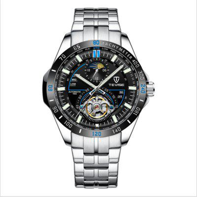 $29.99 per TEVISE T855 Quartz Stainless Steel Strap Waterproof Night-luminous Men Mechanical Watch with Date Function