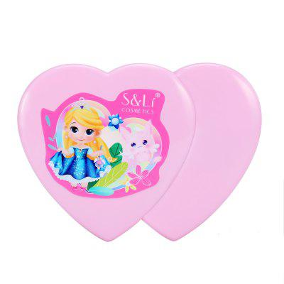 Washable Cosmetics and Real Makeup Set for Little Girls with Mirror , Eye Shadow, Blush, Brushes, Lip Gloss, Heart Shaped Cosmetics Play Set