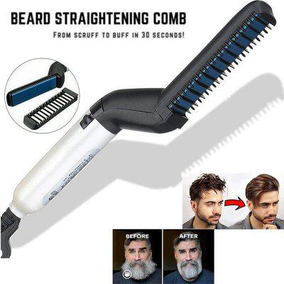 Quick Beard Straightener Multifunctional Hair Styling Iron Comb Curling Curler Show Cap Tool