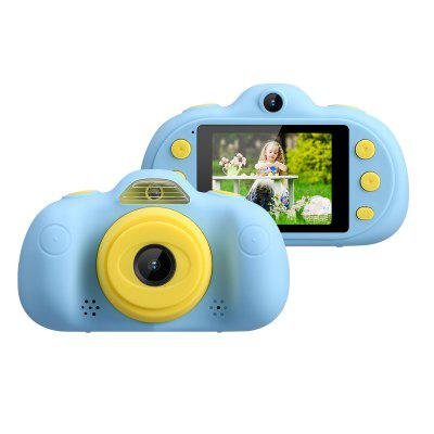 Kids Camera P8 2.4 Inch Screen Digital Camcorders Camera Rechargeable Children's Camera for Boys Girls Party Outdoor Play-Blue