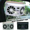 Solar Car Exhaust Fan Heat Exhaust Double Air Outlet Ventilation Car Cooler Fan - WHITE