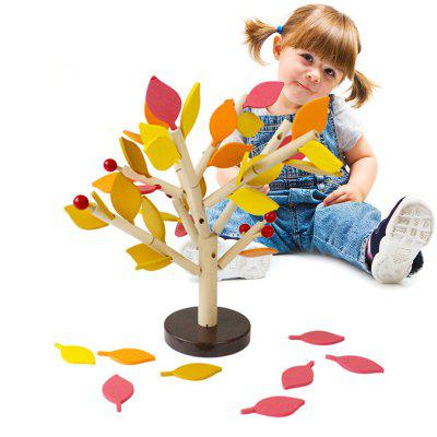 DIY Wooden Tree Puzzle Inserted Blocks Child Wisdom Early Educational Toy