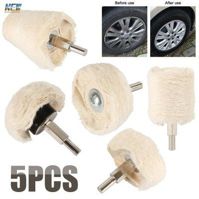 5 PCS Opwrijfzool polijsten Mop Wiel van de auto buffer polijstmachine Kit Drill Attachment