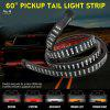 "60"" 6 MODES Truck Strip Tailgate Light Bar 3Row Reverse Brake Signal Tail Light - BLACK"
