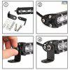 7/13/20/25/32/38 inch Single Row Slim LED Work Light Bar for Car Off-road Truck - BLACK