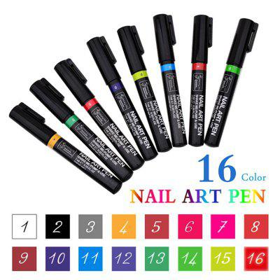 Manicure Tools Wholesale 3D Painted Pens Manicure Point Pens Nail Brushes DIY Nail Pens