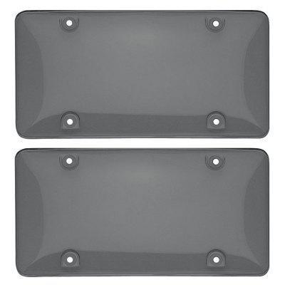 Smoke-tinted License Plate Cover License Plate Shield UV Resistant Universal for Car Truck